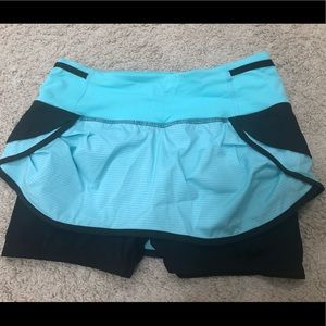 Lululemon speed squad running shorts skirt size 4